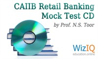 CAIIB Retail Banking Mock Tests CD by Prof. N.S. Toor