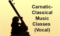 Carnatic/Karnatic Classical Music Classes (Vocal)