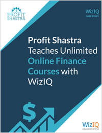 Profit Shashtra Teaches Unlimited Online Finance Courses with  WizIQ