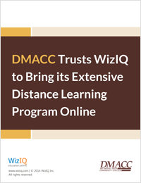 DMACC Trusts WizIQ to Bring its Extensive Distance Learning Program Online: