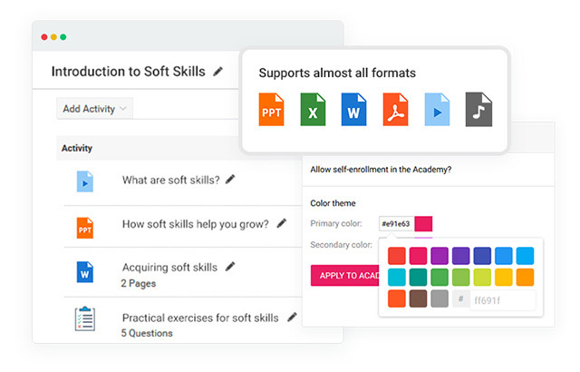 create self-paced courses