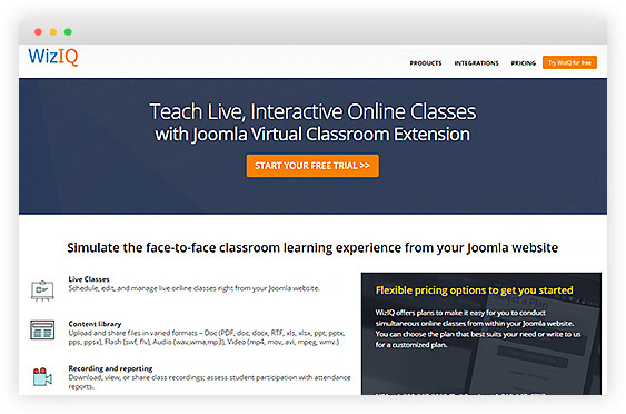 joomla-virtual-classroom-extension
